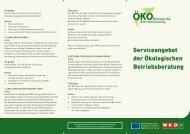 Serviceangebot der Ökologischen Betriebsberatung