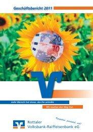 Rottaler Volksbank-Raiffeisenbank eG Geschäftsbericht 2011