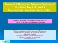 Seasonal Influence on Emission Behavior of Simulated Tropical ...