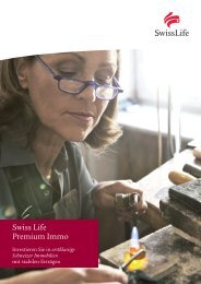 Produktflyer Swiss Life Premium Immo