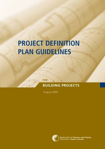 project definition plan guidelines - Department of Treasury