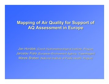 Mapping of Air Quality for Support of AQ Assessment in Europe