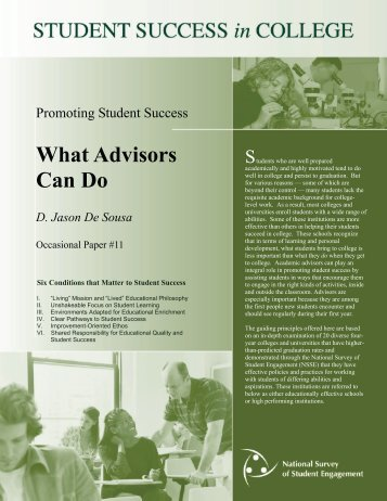 DEEP Practice Brief What Advisors Can Do - NSSE