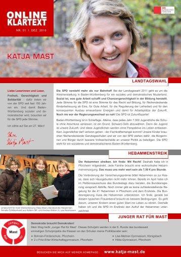 Klartext 2010 - Ausgabe 2 - Katja Mast