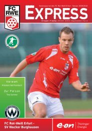 FC Rot-Weiß Erfurt - SV Wacker Burghausen - FC Rot-Weiss Erfurt e.V.