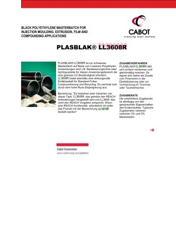 PLASBLAK® LL3608R - Cabot Corporation