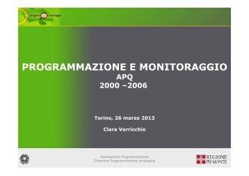 Clara Varricchio - Programmazione e Monitoraggio APQ 2000