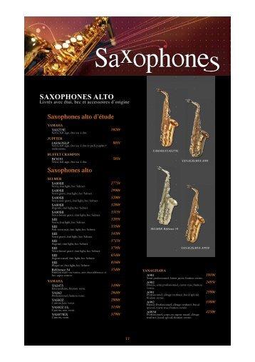 Saxophones alto d'étude - Feeling Musique