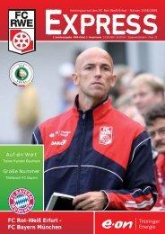 1. Sonderausgabe · DFB-Pokal, 1. Hauptrunde - FC Rot-Weiss Erfurt ...