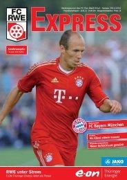 RWE unter Strom FC Bayern München - FC Rot-Weiss Erfurt e.V.