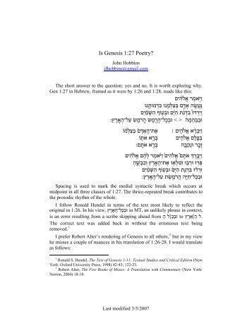 here - Ancient Hebrew Poetry