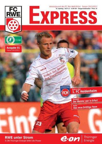 RWE unter Strom 1. FC Heidenheim - FC Rot-Weiss Erfurt e.V.