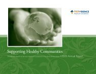 Supporting Healthy Communities - Providence Foundations