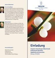 Einladung - Weleda