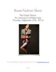 Fashion show 2012 Sponsorship proposal - Rowe