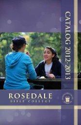 academic catalog - Rosedale Bible College
