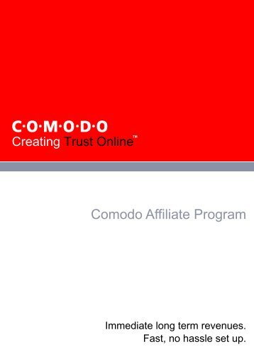 Comodo Affiliate Program - SSL Certificate