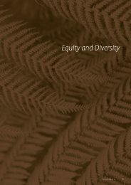 Equity and Diversity - University of Canterbury