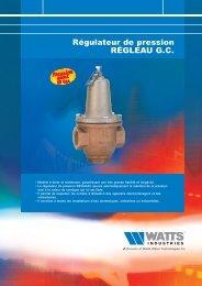 Régulateur de pression RÉGLEAU G.C. - Watts Industries