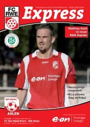 Neuzugänge vorgestellt • B1-Junioren - FC Rot-Weiss Erfurt e.V.