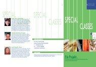 special classes - Johann Sebastian Bach Musikschule  Wien