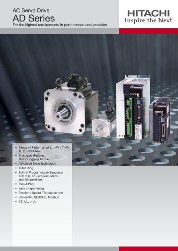 Hitachi Servo Drives and Motor Data Sheet. - Softstart UK