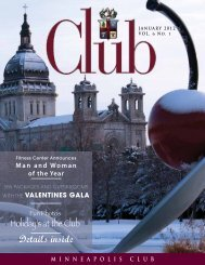 January - Minneapolis Club