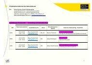 Einteilung für die Projektpräsentationen der Maturaklassen am 16 ...