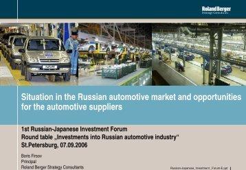 Russland - Automobilmarkt der Zukunft