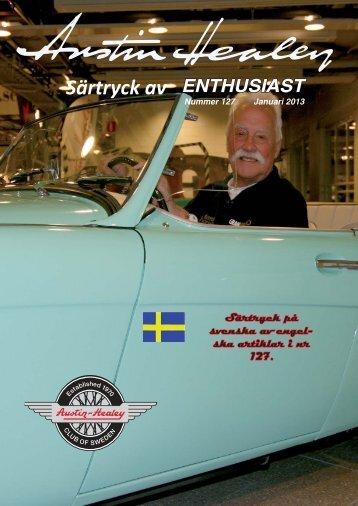 Enthusiasten 127 svenskt särtryck.indd - Austin Healey Club Sweden