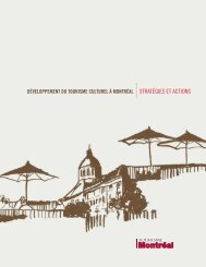 développement du tourisme culturel à montréal stratégies et actions
