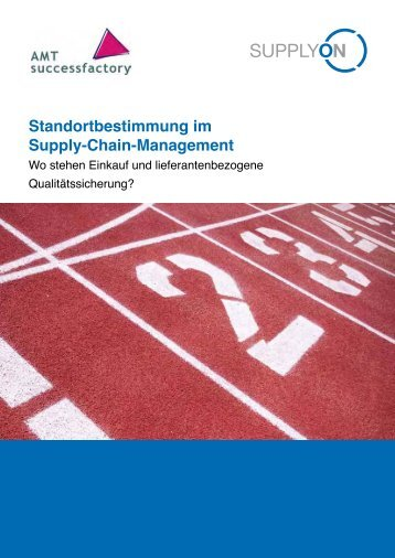 Standortbestimmung im Supply-Chain-Management Wo ... - SupplyOn