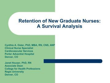 Analyzing the impact of stress on nurse productivity and retention