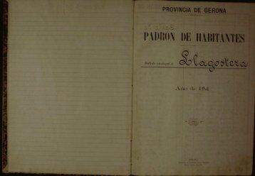 1901 - Arxiu Municipal de Llagostera