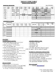 Schedule - IIT Mandi