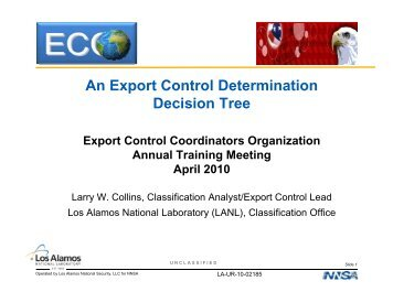 An Export Control Determination Decision Tree - Acquisition ...