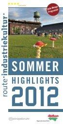 Sommerhighlights 2012 - Route-Industriekultur