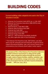 BUILDING CODES - City of Jonesboro
