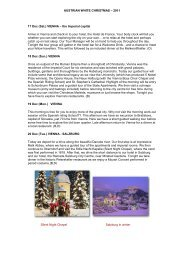 AUSTRIAN WHITE CHRISTMAS – 2010 - Austria travel direct