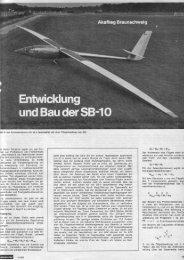 SB 10 Artikel über die Entwicklung, den Bau und den Erstflug