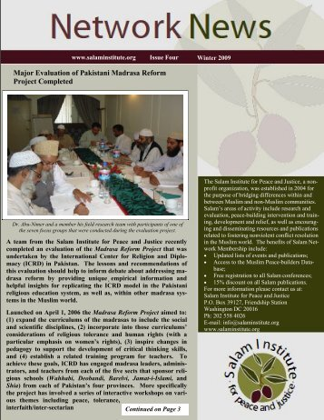 Major Evaluation of Pakistani Madrasa Reform ... - Salam Institute