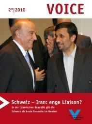 Schweiz − Iran: enge Liaison? - Gesellschaft für bedrohte Völker