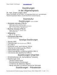 Essstörungen in der Allgemeinpraxis ... - Psychoforum.de