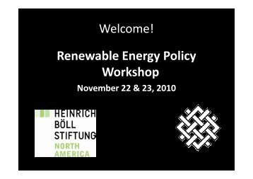 Renewable Energy Policy Workshop - World Resources Institute