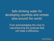 Safe Drinking Water to developing countries and remote ... - ICWT