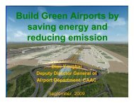 Build Green Airports by saving energy and reducing emission