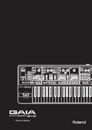 Owners Manual (SH-01_OM.pdf) - Roland