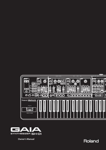 Owners Manual (SH-01_OM.pdf) - Roland