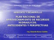 Plan Nacional de aprovechamiento de Recursos Hidráulicos ...