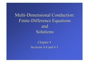 Finite-Difference Equations and Solutions
